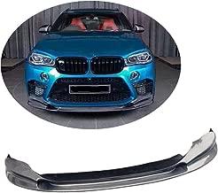 MCARCAR KIT Front Bumper Lip fits BMW X5M F85 X6M F86 SUV 2015-2018 Factory Outlet Carbon Fiber CF Chin Spoiler Splitter Protector