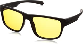 Polaroid Sunglasses PLD 2066/s Polarized Rectangular Sunglasses, Matte Black, 56 mm