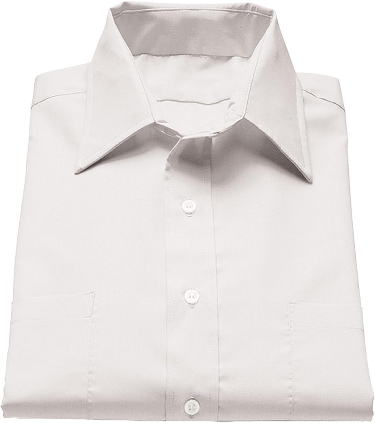 Ed Garments Men's 1110 Point Collar Button Down Shirt (White 2X-L-T)