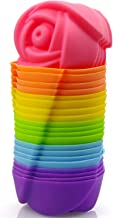 Mirenlife Reusable and Non-stick Mini Silicone Baking Cups/Muffin Cups/Mini Cupcake Liners/Mini Chocolate Holders/Truffle ...