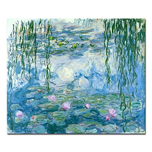 Wieco Art Water Lilies Giclee Canvas Prints Wall Art by Claude Monet Famous Oil