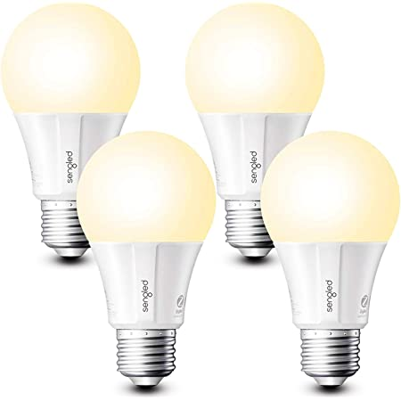Sengled Smart Light Bulbs, Zigbee Hub Required, Works with Alexa and SmartThings, Voice Control with Google Home and Echo with built-in Hub, Soft White 60W Equivalent A19 Dimmable Smart Bulbs, 4-Pack