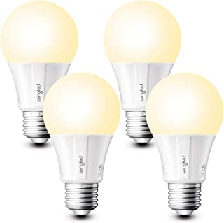 Sengled E11-G13 هوشمند LED نرم سفید A19 لامپ لپ تاپ مورد نیاز، 2700K 60W معادل، با الکسا، دستیار گوگل و SmartThings، 4 بسته