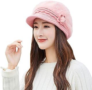 Hat for Women,Women Winter Warm Floral Cap Beret Braided Baggy Knit Crochet Beanie Hat Ski Cap,Sandwich Makers & Panini