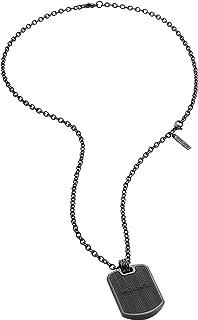 قلادة من بوليس للرجال من السيليكون باللون الرمادي الداكن - طراز P PJ 26400PSUGR-03