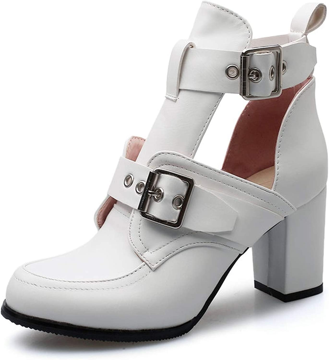 Gladiator High Heels shoes Women Round Toe Summer shoes Punk Party Prom shoes