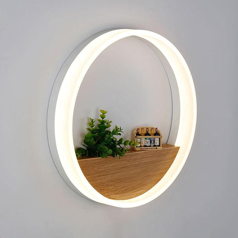Moderne minimalistische Nachttischlampe Schlafzimmer Wand Korridor Acryl LED kreisfrmigen Innenwand Dekoration Lampen