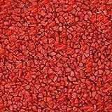 2 kg Granulat, Dekosteine, Dekogranulat 2-3 mm rot, Tischdeko Hochzeit rot, Tischdekoration rot, Tischdeko Silberne Hochzeit rot, Tischdeko Geburtstag rot