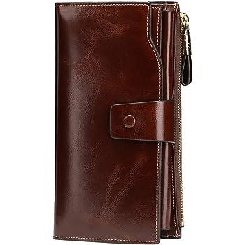 UMODE RFID Blocking Genuine Leather Large Capacity Women Wallet Organizer Card Holder