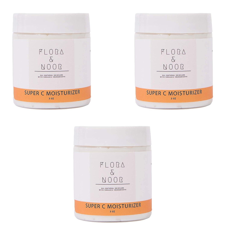 Flora and Noor Vitamin 販売実績No.1 C 市場 Moisturizer Face Brightening Skin