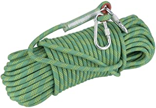 Garsent Cuerda de Escalada en Roca de 10 Paracord de Alta Resistencia Panchute Cord/ón Corad con mosquet/ón Cuerda de Escape de paraca/ídas de Rescate para Actividades al Aire Libre. 20m