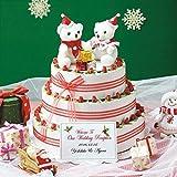 サンタベアのガトーフレーズクリスマスホワイトストロベリーチョコレート60個セット【結婚式 プチギフト ショートケーキパーティー ウェルカムドール】