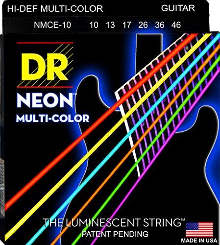 DR String MCE-10 Multi-Color Jeu de cordes pour guitare electrique