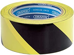Draper 63382 33 m x 50 mm zwart/geel gevarenband