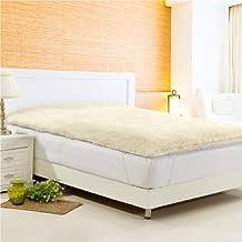 Australian Made Fully Fitted/Straps Reversible Luxury Wool Underlay/Underblanket (Four Corner Straps, 91 x 188cm (Single))