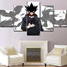 Wall Art Set Frame 5 Panel Fumikage Tokoyami Poster Anime Hero Picture Canvas Print Painting Home Decoration