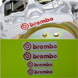 R&G Brembo 6 Piston & 4 piston High Temp Brake Caliper Decal Sticker Set of 4 (Red)