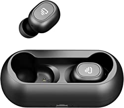 Dudios Bluetooth 5.0 Wireless Earbuds, Zeus Air True Wireless Headphone HiFi Stereo Sound Mini in-Ear Sweatproof Headset (One-Button Control, 4 hrs Playtime, Auto Pairing) (Black-Plus)