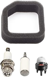 Panari 5687301 560873001 Air Filter + Primer Bulb Fuel Filter for Ryobi Homelite String Trimmer Leaf Blower 901590001 Tune Up Kit