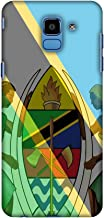 AMZER Slim Fit Handcrafted Designer Printed Snap On Hard Shell Case Back Cover Skin for Samsung Galaxy J6 (2018) - Coat of Arms- Tanzania Flag HD Color, Ultra Light Back Case