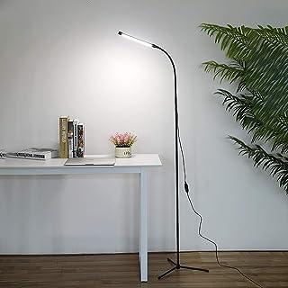 フロアライト LED フロアランプ 上向き スタンドライト フロアスタンド 高輝度 高天井ライト 北欧 調光調色 間接照明 電気スタンド led おしゃれ操作 勉強/仕事/読書に適用 照明灯,黒