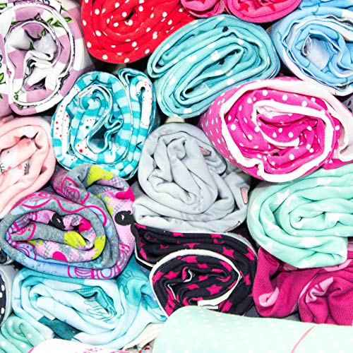 Stoffreste Paket - Ballenendstücke - Baumwolljersey Stoffpaket Kinderstoffe Jungen oder Mädchen 3m oder 5m (Mädchen, 5)