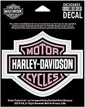 HARLEY-DAVIDSON Glittery Bar & Shield Decal, MD Size, Pink Logo DC302453