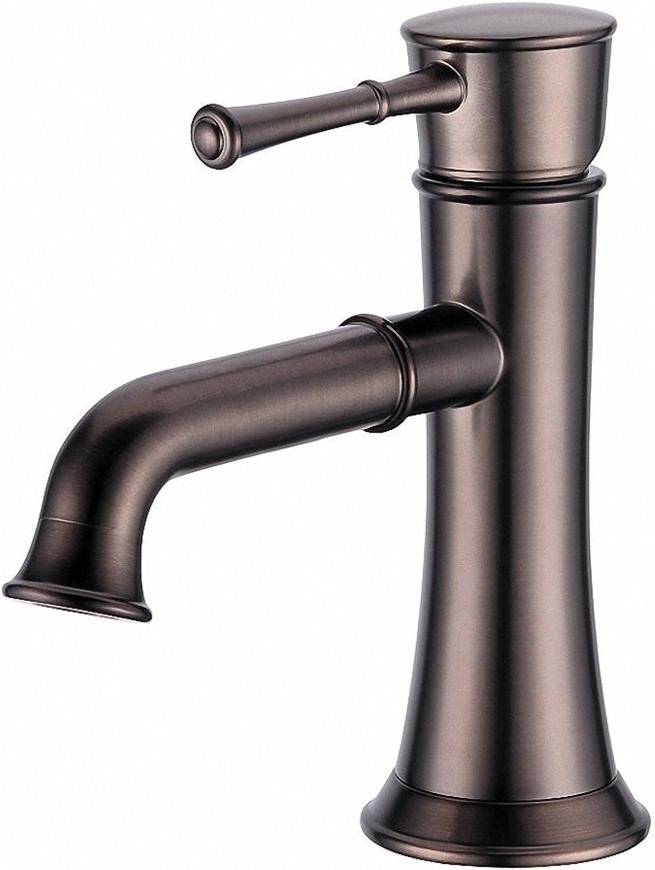 Iaofanmaoy Basin faucet single hole faucet retro faucet Cold Hot antique faucet,pink