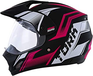 Pro Tork Capacete Th1 Vision New Adventure 56 Preto/Rosa