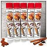 5 Pack of Cinnamon Toothpick in Tubes And Hanging Resealable Bag