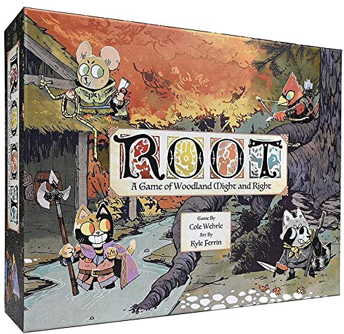 JIALI Root-Brettspiel - Strategie Abenteuer Puzzle Game - Das Brettspiel für Family Party Desk Englisch Spiele - Kartenspiele für Erwachsene Teens und Kids