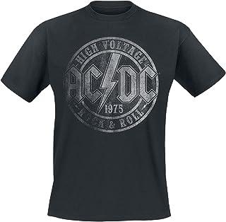 AC/DC High Voltage 1975 męski T-shirt czarny Band-Merch, Bands
