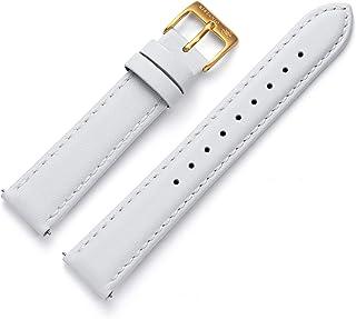 Kistanio Bracelet de montre 16 mm 4 couleurs 6 couleurs de fermoir Bracelet de rechange en cuir véritable