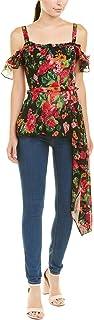 BCBG Max Azria Women's Floral Print Off The Shoulder Asymmetric Top
