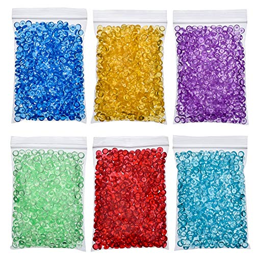 Anjing 6 Pack Fish Bowl Beads for Crunchy Slime Vase Filler Beads Fish Bowl Beads for Homemade