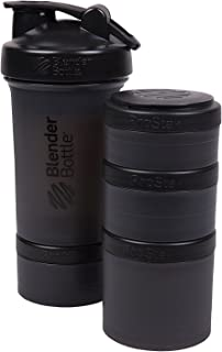 BlenderBottle ProStak 22 Oz Bottle with 6 Piece Twist n' Lock Storage Set, Black 141[並行輸入]