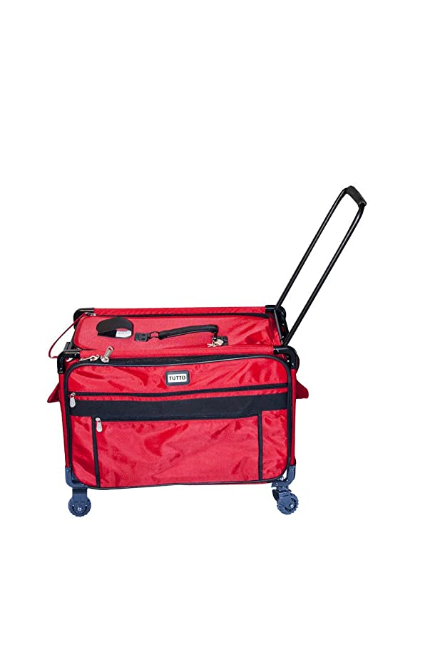 Tutto Monster Machine on Wheels Sewing Machine Case, 2XL Red