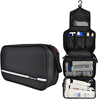Samtour Travel Toiletry Bag Business Toiletries Bag for Men Shaving Kit Waterproof Hanging Travel Cosmetic Pouch Case for ...