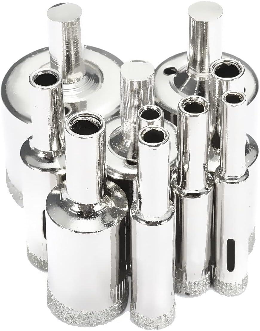 Drill Bits 10pcs Rare 6-32mm Diamond Drilling Superlatite Holesaw Set Stable Hole