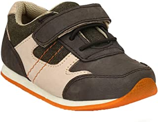Hopscotch Tuskey Shoes Boys Genuine Leather Genuine Leather Jogger Shoes in Brown Color