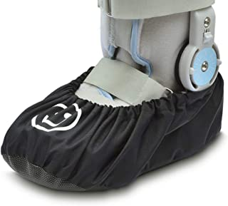 iGuerburn Medical Fracture Walking Boot/Shoe Cover Waterproof Orthopedic Foot Cast Cover - Black (Medium)
