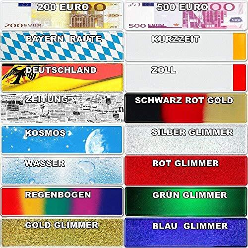 TEILE-24.EU Malinowski Wunsch-Kennzeichen Fun Funschild Kennzeichen Namen Nummernschild Geburtsdatum inkl. 2 SAUGNÄPFE