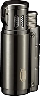 Cobber Torch Cigar Lighter, Triple 3 Jet Flame Refillable Butane Cigar Lighter with Cigar Punch
