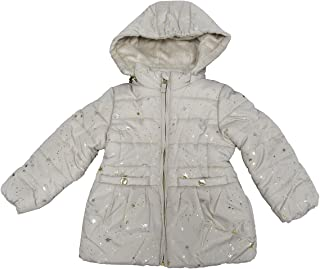 Star-Print Puffer Jacket with Faux-Fur (3T) Cream