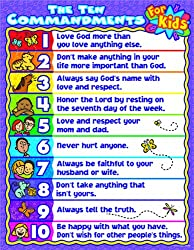 Carson Dellosa Christian The Ten Commandments for Kids Chart