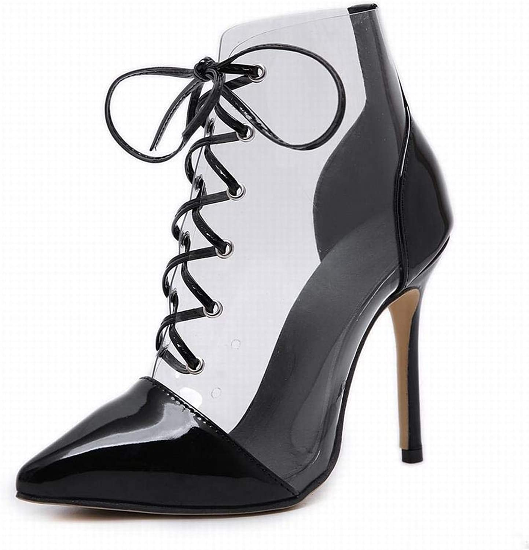 Klerokoh Damen Damen Damen High Heel Kreuzgurte Spitzen Stiletto Sandalen (Farbe   schwarz, Größe   39)  000dda