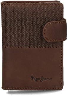 Pepe Jeans Half Tarjetero Vertical Marrón 10x7,5 cms Piel