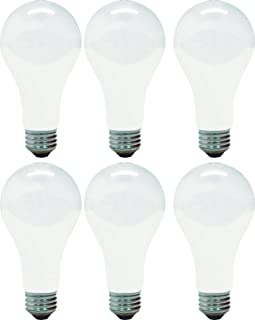 GE Lighting Soft White 46814 150-Watt, 2680-Lumen A21 Light Bulb with Medium Base, 6-Pack