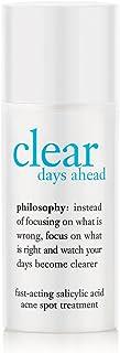 Philosophy Clear Days Ahead Fast-Acting Salicylic Acid Acne Spot Treatment, 0. 5 Ounce