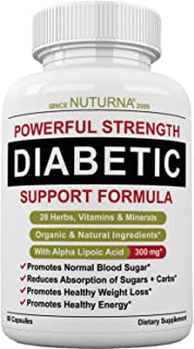 Diabetic Support Formula – 28 Vitamins Minerals & Herbs with 300 mg Alpha..
